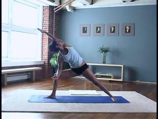 Hemelaya Behl doing at-home yoga