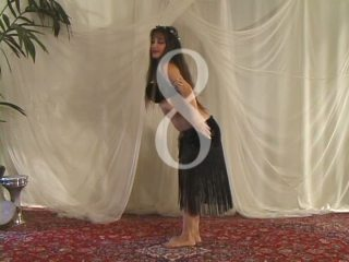 Jehan demonstrating camel in bellydance
