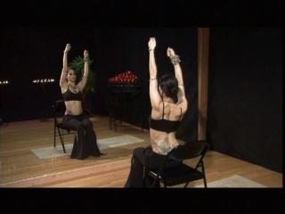 Rachel Brice performing shoulder exercises