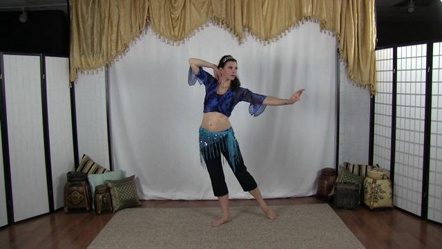 Heather Wayman demonstrating beginner bellydance moves