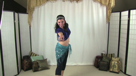 Heather Wayman shows belly dancing moves