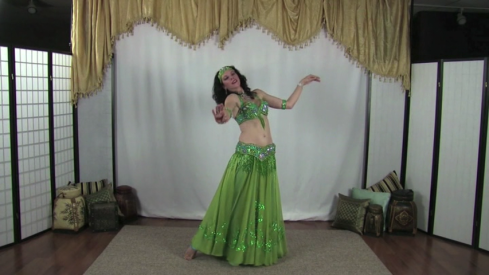 Heather Wayman's costumed belly dance performance