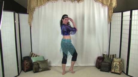 Heather Wayman demonstrates beginner belly dancing