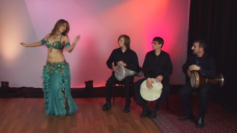 Mariyah performs a drum solo